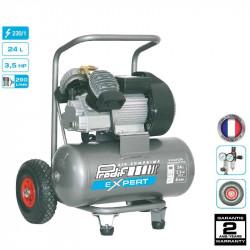 Compresseur coaxial 3,5CV 24L 8 bars 230V - 17.4 m³/h