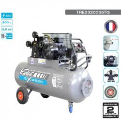 Compresseur à courroie 5.5CV 200L 9 bars 400V - 27 m³/h