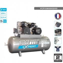 Compresseur fonte fixe 5.5CV 270L 9 bars 400V - 30.2 m³/h