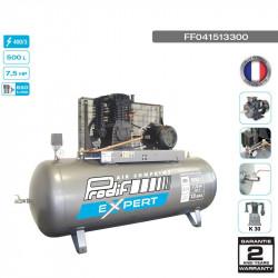 Compresseur bi-étagé 7.5CV 500L 13 bars 400V - 39 m³/h