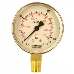Manomètre 0-315 bar PV Ø63mm sec - N1315