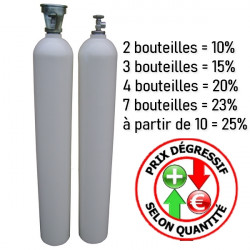 Bouteille tampon 50L 350 bars nue - Raccords disponibles