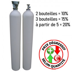 Bouteille tampon 80L 330 bars nue - Raccords disponibles