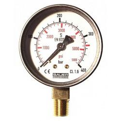 "Manomètre 0-400 PV 1/4"" diamètre 63 N4101"
