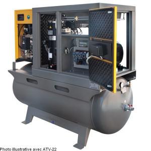 Compresseurs à vis sur réservoir et sécheur
